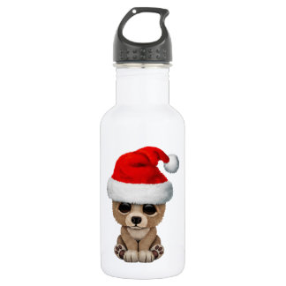 Baby Bear Wearing a Santa Hat 532 Ml Water Bottle