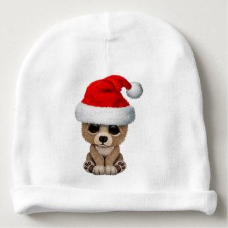 Baby Bear Wearing a Santa Hat Baby Beanie