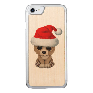 Baby Bear Wearing a Santa Hat Carved iPhone 8/7 Case