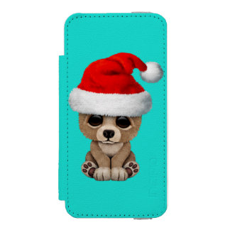 Baby Bear Wearing a Santa Hat Incipio Watson™ iPhone 5 Wallet Case