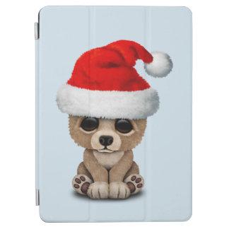 Baby Bear Wearing a Santa Hat iPad Air Cover