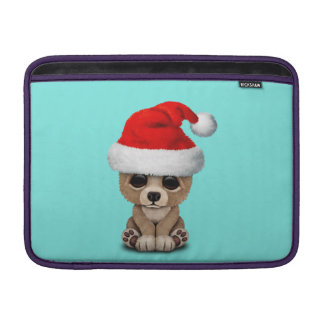 Baby Bear Wearing a Santa Hat MacBook Sleeve