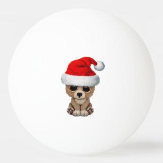 Baby Bear Wearing a Santa Hat Ping Pong Ball