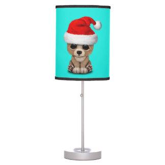 Baby Bear Wearing a Santa Hat Table Lamp