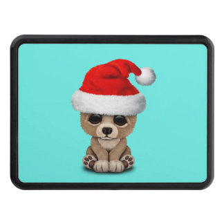 Baby Bear Wearing a Santa Hat Trailer Hitch Cover
