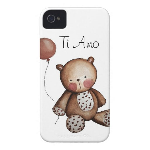 Baby Bear with Balloon Blackberry Case White
