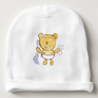 baby bear with milk bottle baby beanie