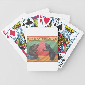 Baby Bears Poker Deck