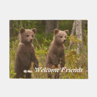 baby bears welcome doormat