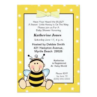 Baby Bee Baby Shower  Invitation