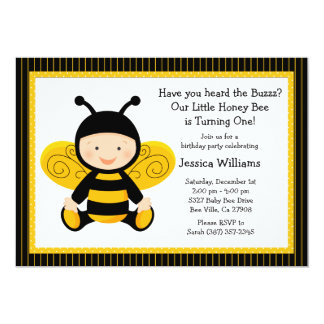 Baby Bee Birthday Party Invitation