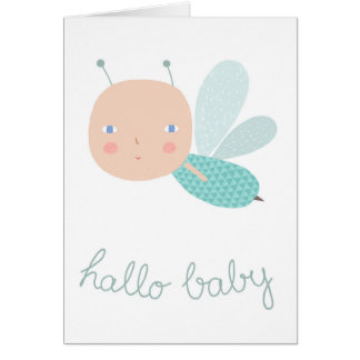 Baby bee boy card