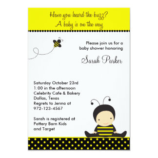 Baby Bee Shower Invitations