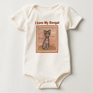 Baby Bengal Cat I Love My Bengal Baby Bodysuit