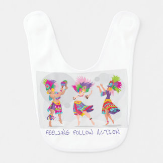 Baby bib 3 dancing person