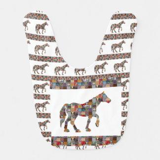 Baby Bib BUY BEST HORSE  Healing Comfort Art