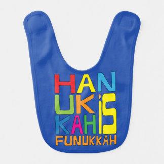 """Baby Bib Chanukah/Hanukkah """"Hanukkah is Funukkah"""""""