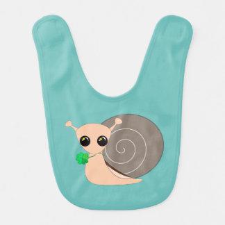 Baby Bib - Lucky Snail +