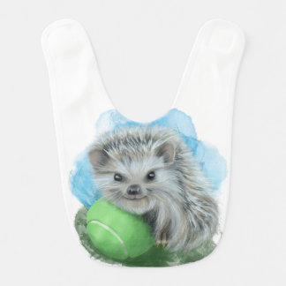 Baby Bib - Playful Hedgehog