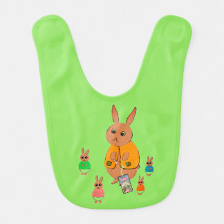 Baby Bib Rabbits in Diapers