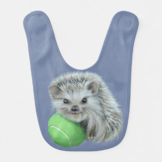 Baby Bib with Playful Hedgehog