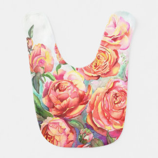 Baby Bib with Roses