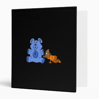 Baby & Big Blue Bear 3 Ring Binder