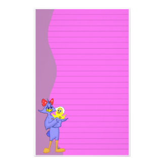 Baby Bird and Mother Bird Stationery (Ruled)