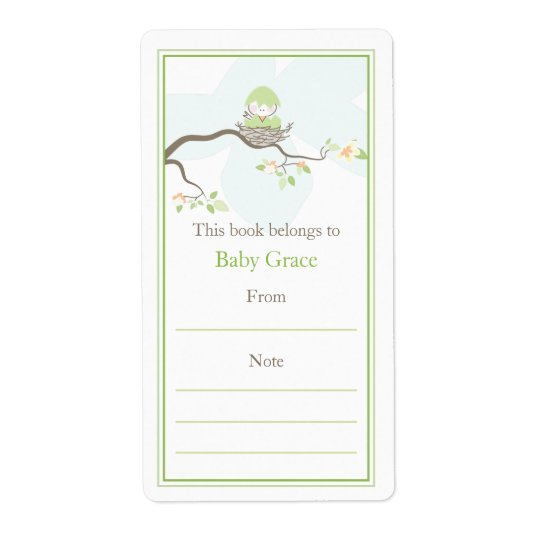 Baby Bird Bookplate