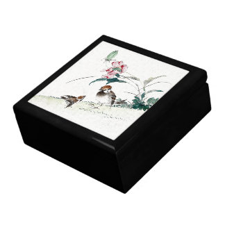 Baby Bird Mama Flowers Animals Asian Gift Box