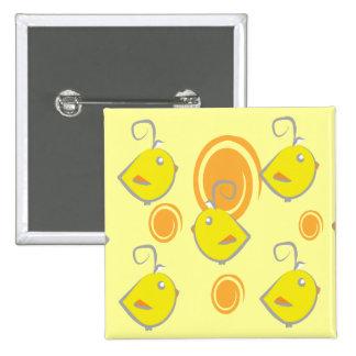 baby bird yellow pattern button