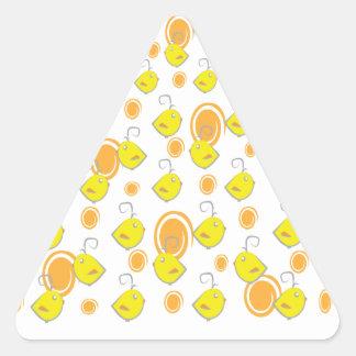 baby bird yellow pattern sticker