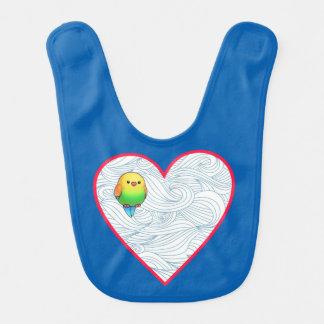 Baby birdie sweet heart bib