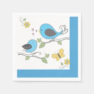 Baby Birdies Shower Napkins-Boy Napkin
