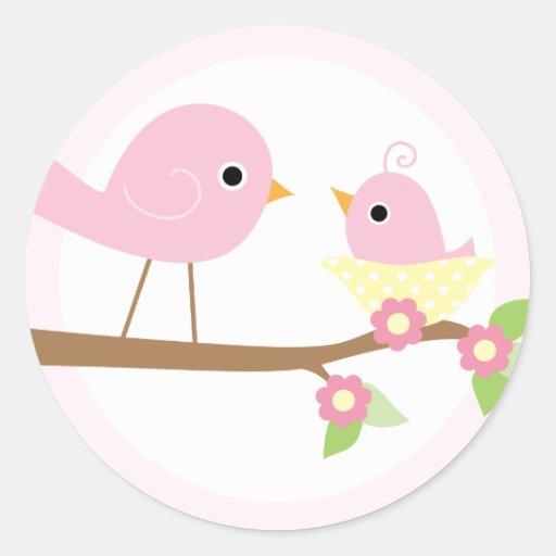 Baby Bird's Nest (pink) Stickers