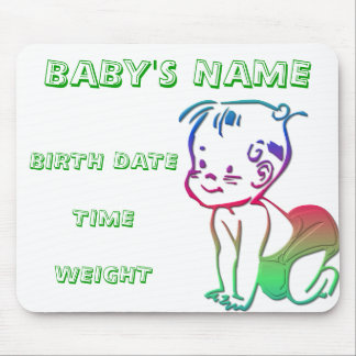 Baby (Birth Announcement / Keepsakes) Mouse Pad
