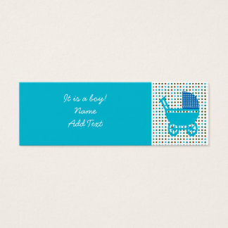 Baby Birth Announcement minicard Mini Business Card