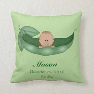BABY BIRTH KEEPSAKE GREEN PILLOW