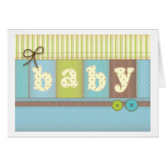 Baby Blanket Cute Quilt Baby Boy Thank You Card