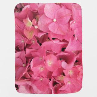 Baby Blanket - Dark Pink Hydrangeas