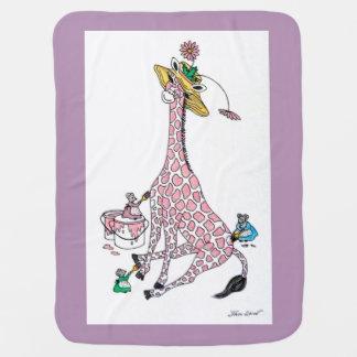 Baby Blanket - Pink Giraffe