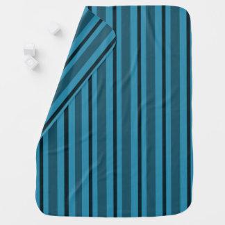 Baby-Blanket-Sea-Side-Stripe's_Blue Baby Blanket