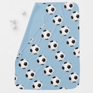 Baby Blanket-Soccer Balls Receiving Blanket