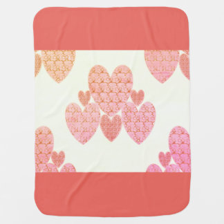Baby Blanket_Soft-Rosey_Hearts_ Baby Blankets