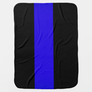 BABY Blanket thin blue line police law enforcement