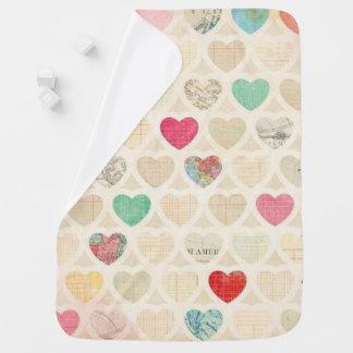 Baby Blanket/Vintage Heart Print Baby Blanket