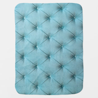 Baby Blanket with blue capitone