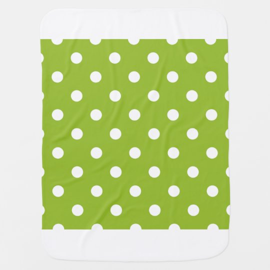 Baby blanket with fresh Dots / green