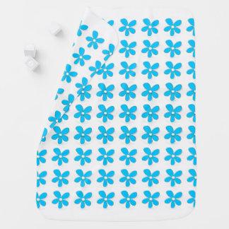 Baby-Blanket's_Mod-Baby--White-Blue-Daises Baby Blanket