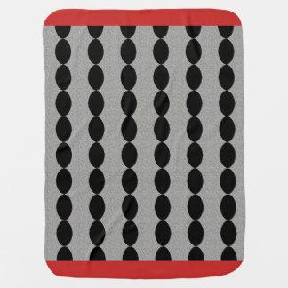 Baby-Blanket's_Vintage-Deco_Mod-Red-Black Baby Blanket
